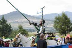 Festival medieval Tlaxcala, México foto de archivo