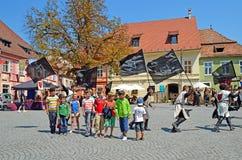 Festival medioevale in Sigishoara Fotografia Stock