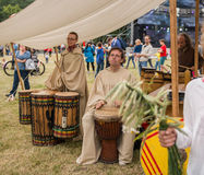 Festival of midsommar in Warsaw Royalty Free Stock Images