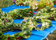 Festival of midsommar in Warsaw Stock Image