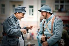festival Militar-histórico Chortkiv Athenziv em Chortkiv do 15 ao 17 de junho de 2018 Soldado polonês Imagens de Stock