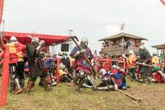Festival militare e storico ricostruzione Fotografie Stock Libere da Diritti