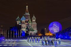 A festival of military orchestras `Spasskaya Tower` Stock Image