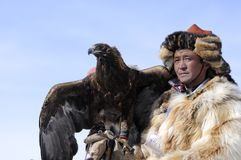 Festival mongol d'aigle Photo libre de droits