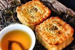 Festival moon cake - china dessert Royalty Free Stock Photo