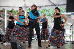Festival multiculturale dei danzatori di flamenco Fotografia Stock Libera da Diritti