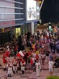 Festival multiculturale internazionale nell'area della passeggiata della città del Dubai Fotografia Stock Libera da Diritti