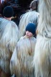 Festival of Mummers or Kukeri in Razlog, Bulgaria Royalty Free Stock Photos