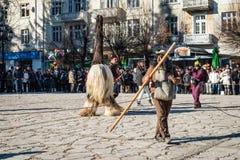 Festival of Mummers or Kukeri in Razlog, Bulgaria Stock Photography