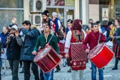 Festival of Mummers or Kukeri in Razlog, Bulgaria Royalty Free Stock Photography