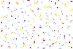 Festival naadloos patroon met confettien Het herhalen van achtergrond, vectorillustratie Rechthoekige horizontaal royalty-vrije illustratie