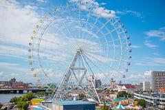 Festival Nagoya. Nagoya, Japan, August 14, 2015 : Many people visit the Festival Nagoya port, Japan Royalty Free Stock Photography
