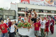 Festival negro del Nazarene en el distrito de Quiapo Imagen de archivo