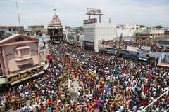 festival nellaiappar del coche del templo Foto de archivo libre de regalías
