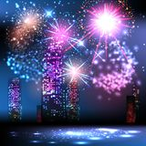 Festival in the night city Royalty Free Stock Photos