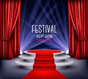 Festival night show poster. Showroom Background Royalty Free Stock Photography
