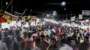 Festival no movment da multidão de india Foto de Stock Royalty Free