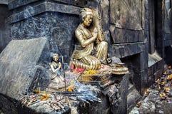 Festival no templo hindu de Nepal fotografia de stock royalty free