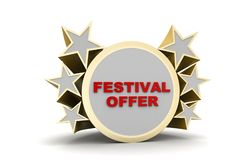 Festival offer banner. In white background Stock Image