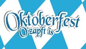 Festival Oktoberfest de bière de Munich d'Allemand c'est - illustration bleue et blanche de vecteur - Diamond Shaped Background t illustration stock