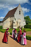 Festival of the old French clothing in the chateau des Milandes Royalty Free Stock Photos