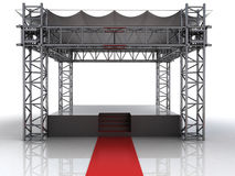 Festival open air stage with red carpet for celebrities. Illustration Royalty Free Stock Photography