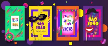 Festival Oporto del Brasile di carnevale di Joalo del sao di Festa Junina illustrazione vettoriale