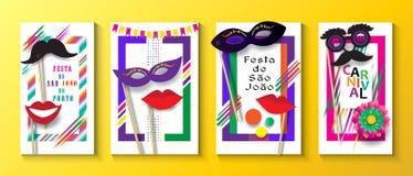 Festival Oporto del Brasile di carnevale di Joalo del sao di Festa Junina illustrazione di stock