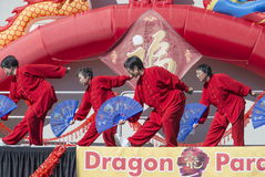 Festival ORLANDO-Floridas 9. Februar 2014 - Dragon Parade Lunar New Year in Orlando Florida Stockfotos