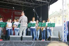 Festival of Ostrava streets - orchestrial Stock Image