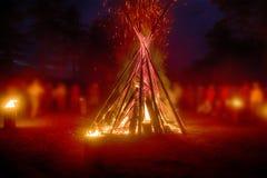 Festival païen de nuit de Walpurgis images stock