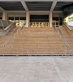 Festival Palace Stairs. Congres and Festival Palace Stairs Without Red Carpet in Cannes France stock image