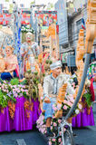 Festival parade in Thailand Royalty Free Stock Images