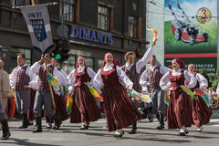 The festival participants in the parade Royalty Free Stock Images