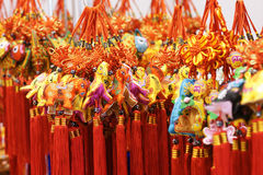 Festival pendants. The close-up of Chinese festival pendants Royalty Free Stock Image