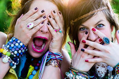 Festival people, facial expression Stock Images