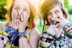 Festival people, facial expression stock photos