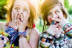 Festival people, facial expression Stock Photos