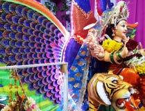 Festival piadoso de la diosa india de Navratri imágenes de archivo libres de regalías
