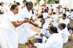 Festival of Pilgrims in Anuradhapura, Srilanka Royalty Free Stock Image