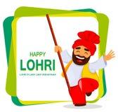 Festival popular Lohri del Punjabi popular del invierno libre illustration