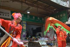 Festival popular no festival de mola chinês fotografia de stock