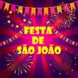 Festival Porto de Brasil do carnaval de Joalo do Sao de Festa Junina ilustração royalty free