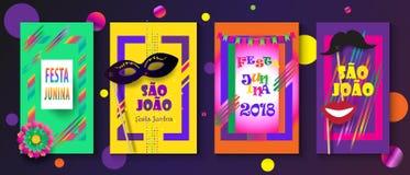 Festival Porto de Brasil do carnaval de Joalo do Sao de Festa Junina ilustração do vetor