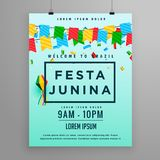 Festival poster for festa junina Stock Photography