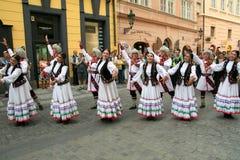 Festival Prague5 di folclore Fotografia Stock Libera da Diritti