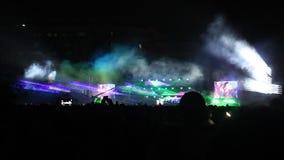 Festival pubblico stock footage