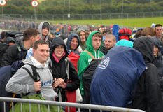 Festival queues Royalty Free Stock Image