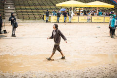 Festival in regen Stock Foto's