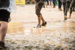 Festival in regen Royalty-vrije Stock Foto